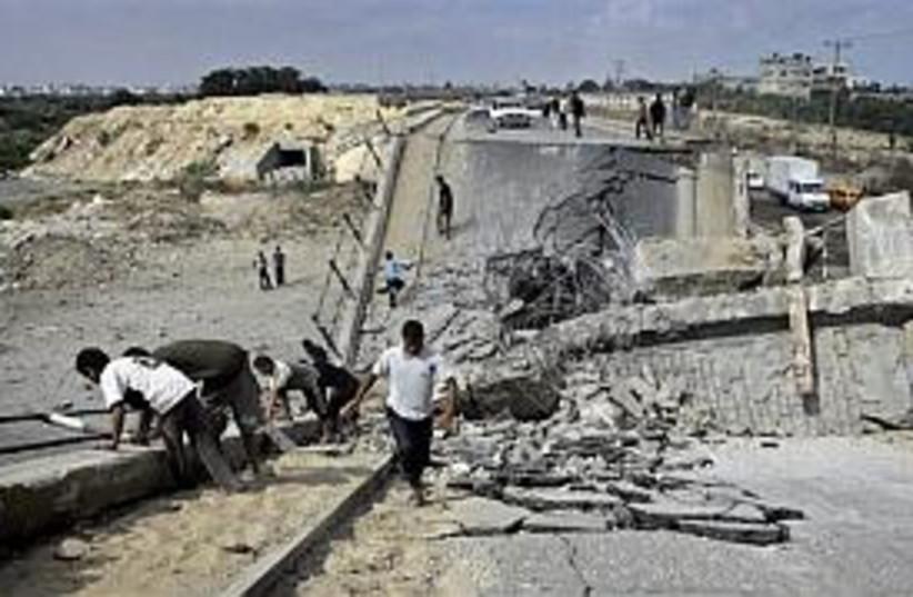 bombed bridge gaza298 (photo credit: AP)