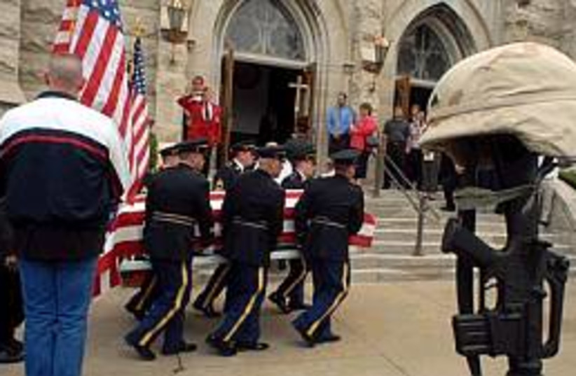 US soldier funeral  (photo credit: AP)