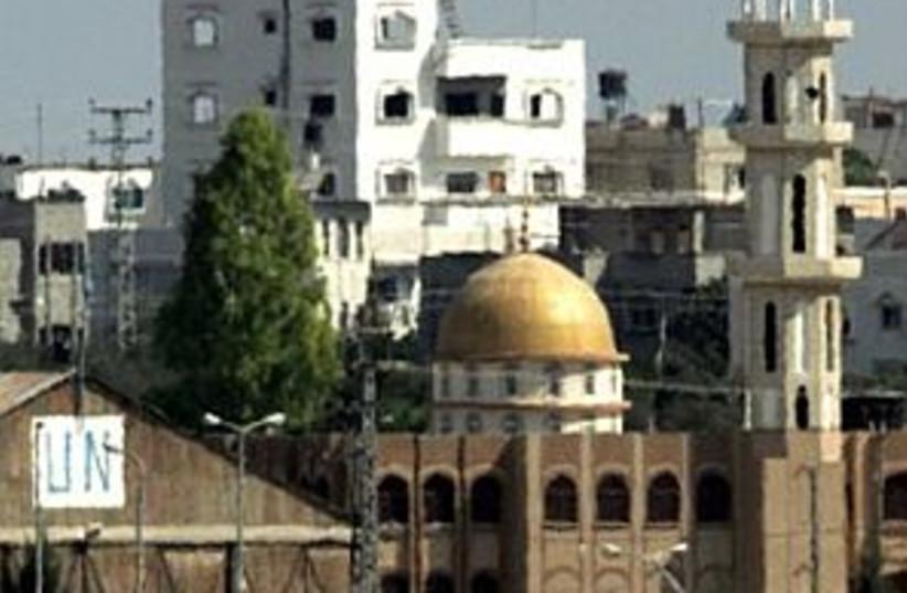 idf tank mosque 298 ap (photo credit: AP)