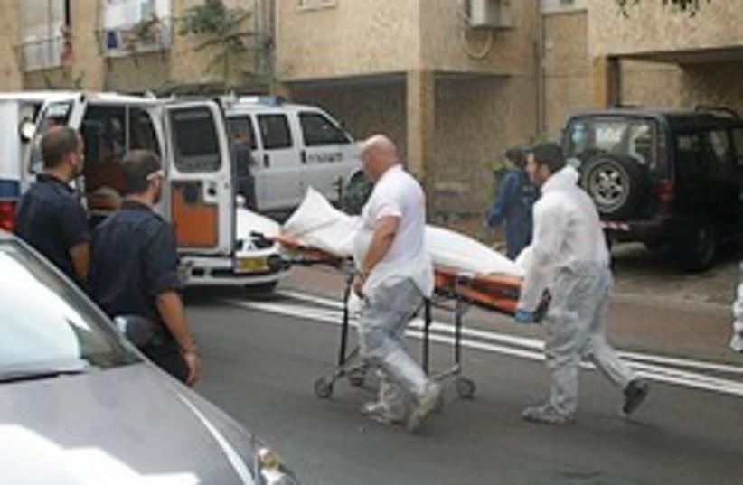 oshrenko murder scene medics 248 88 (photo credit: Yaakov Lappin)