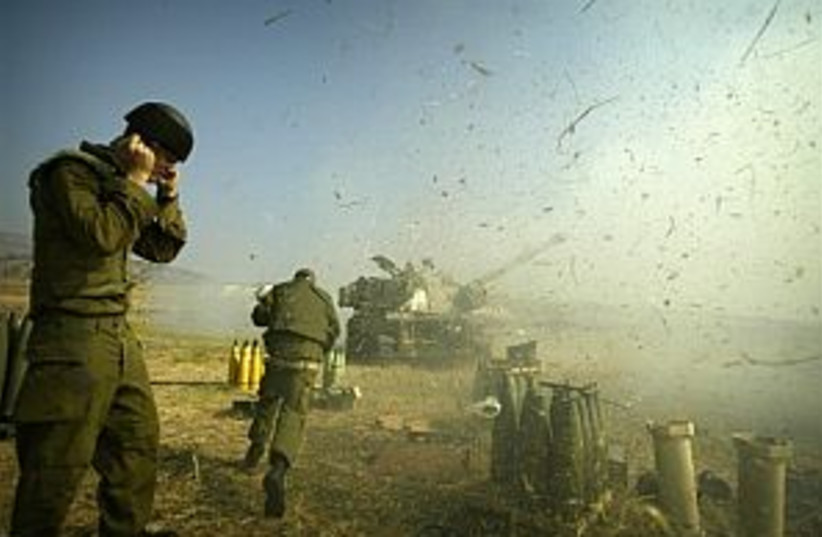 artillery awesome 298 ap (photo credit: AP [file])