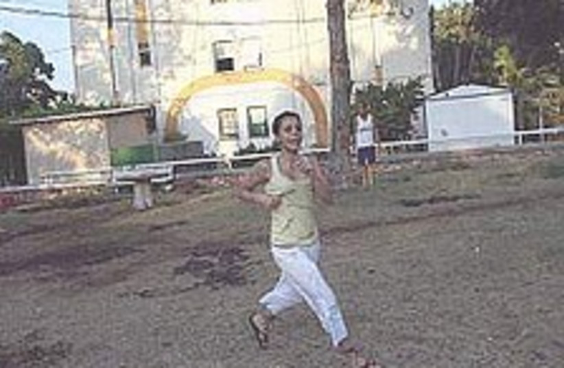 nahariya runs for cover (photo credit: Ariel Jerozolimski)