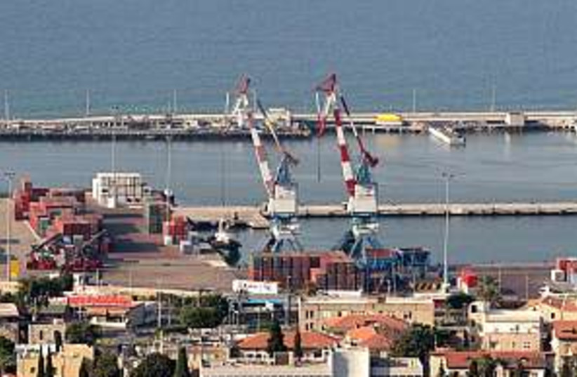 haifa port 298.88 (photo credit: Ariel Jerozolimski)