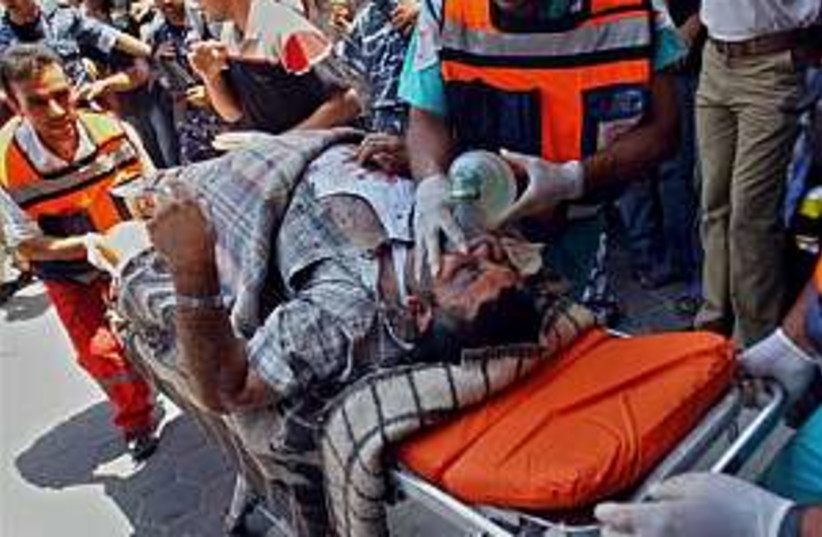 Gaza wounded 298.88 (photo credit: AP)