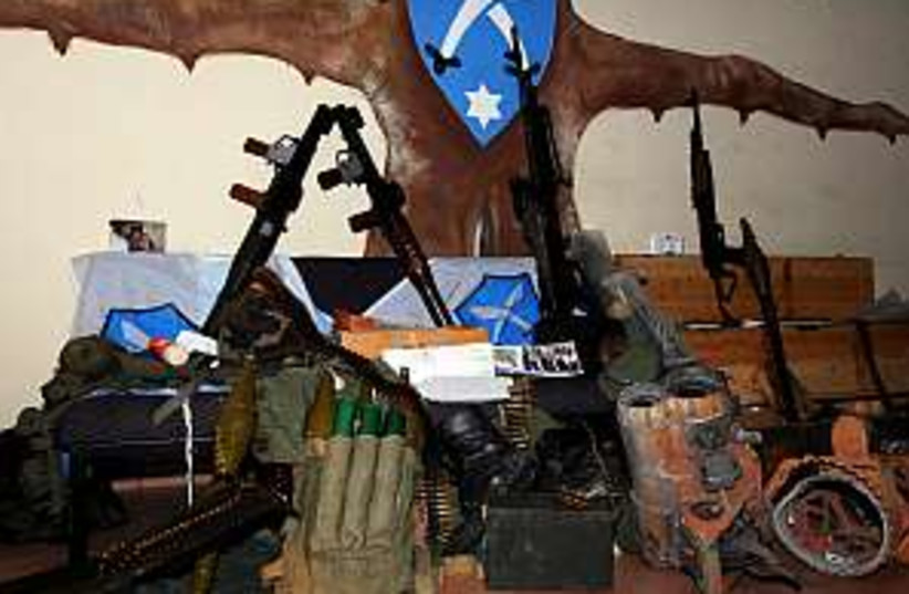 lebanon weapons cache (photo credit: IDF)