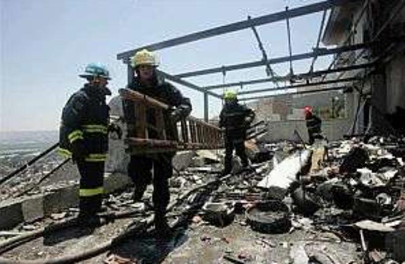haifa firemen 298.88 ap (photo credit: AP)