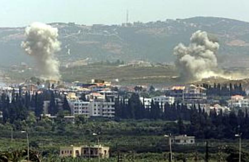lebanon iaf strike  (photo credit: AP)