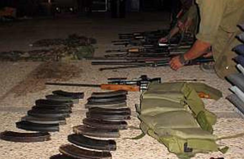 captured Hiz weapons 298 (photo credit: IDF)