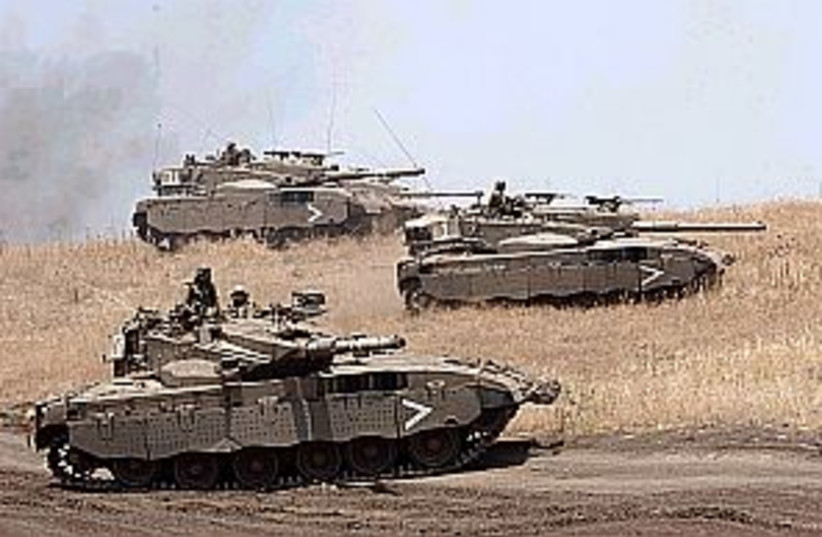 merkava tanks 298.88 (photo credit: Ariel Jerozolimski )