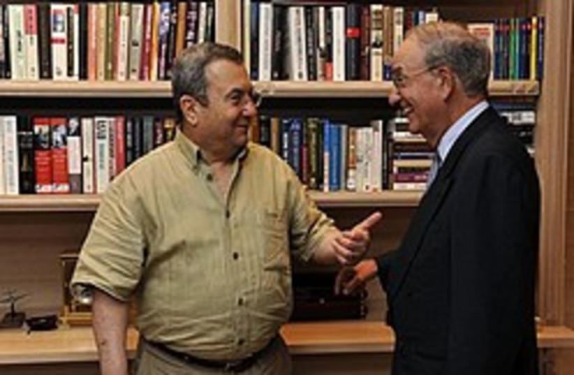 barak mitchell laugh about iran 248 88 (photo credit: AP)