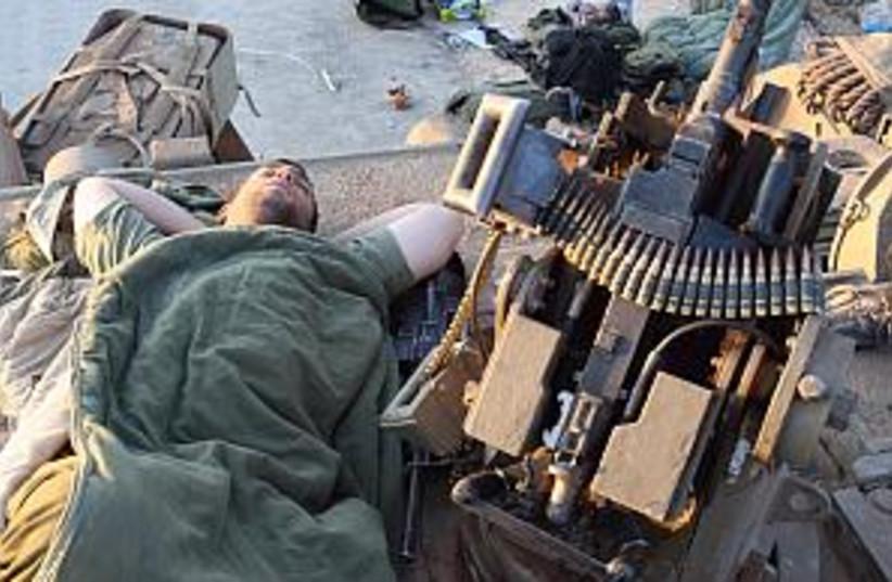idf soldier sleeping 29  (photo credit: Ariel Jerozolimski)