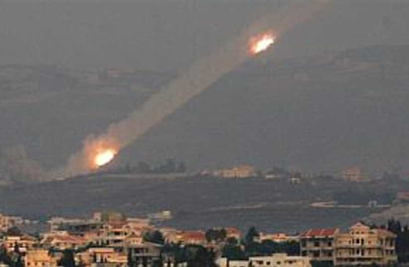 rockets from Lebanon 298 (photo credit: Associated Press)