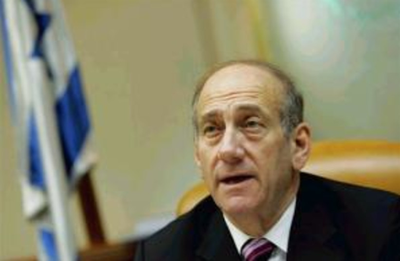 olmert open mouthed 298. (photo credit: AP)