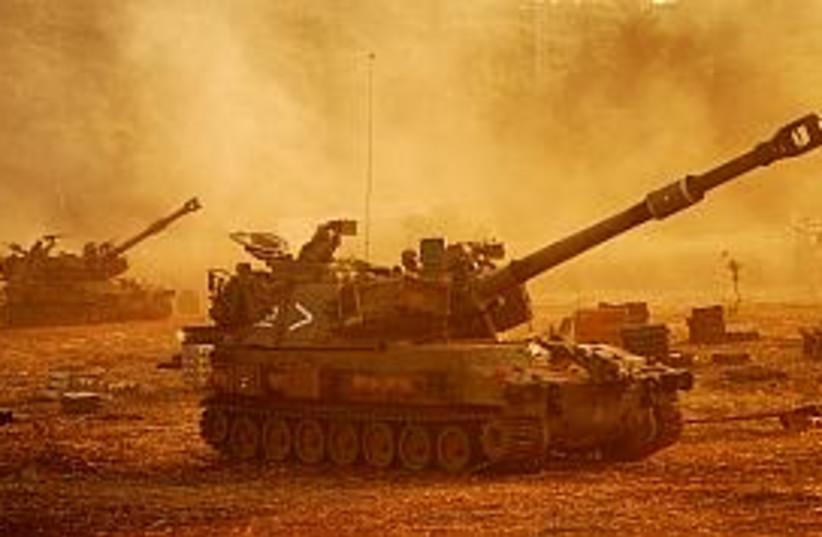 idf artillery lebanon (photo credit: IDF)