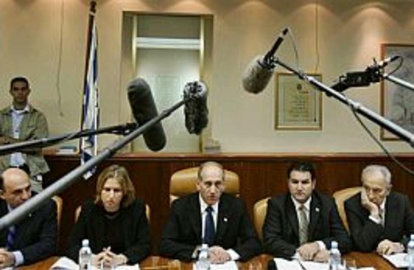 olmert cabinet 298 ap (photo credit: AP [file])