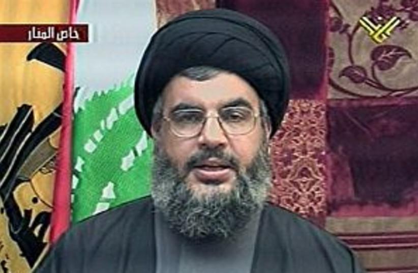nasrallah tv 298.88 (photo credit: AP [file])