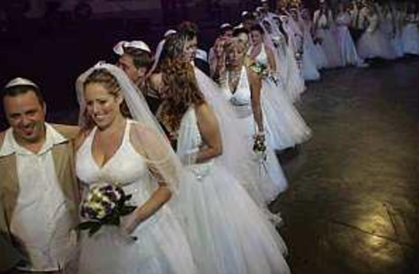 war wedding 298.88 ap (photo credit: AP)
