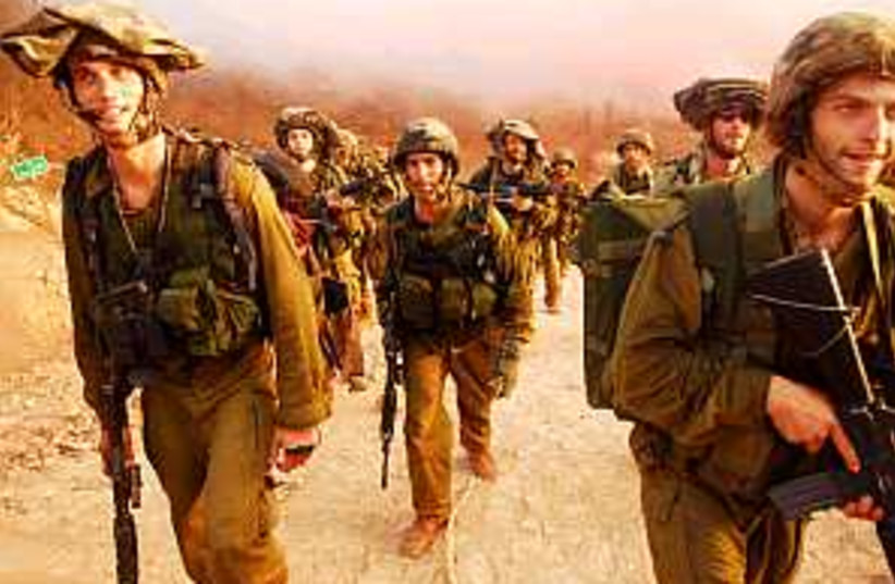 soldiers in rows 298 (photo credit: IDF)