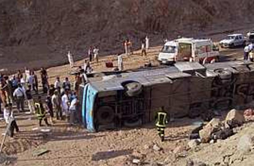 bus sinai crash 298 ap (photo credit: AP)