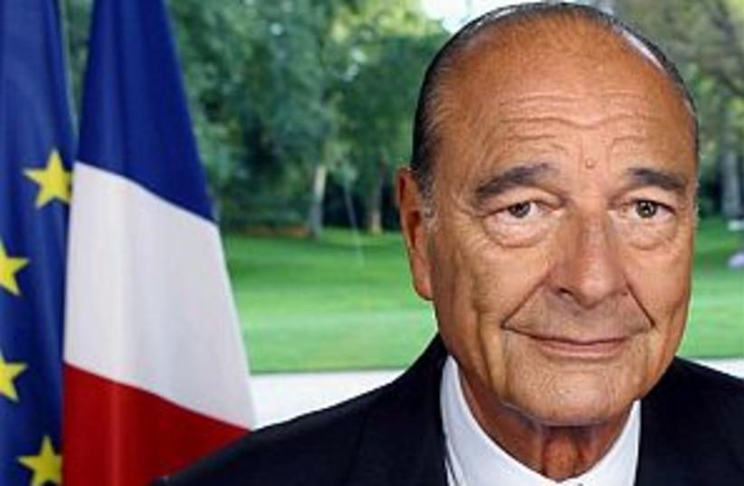 chirac speaking 298.88 (photo credit: AP)