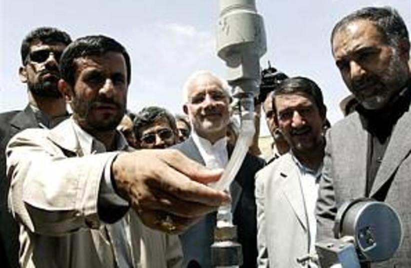 ahmadinejad at plant 298 (photo credit: AP [file])