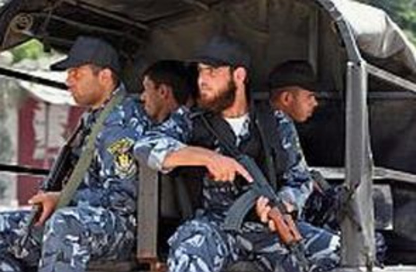 Hamas patrol 298.88 (photo credit: AP)