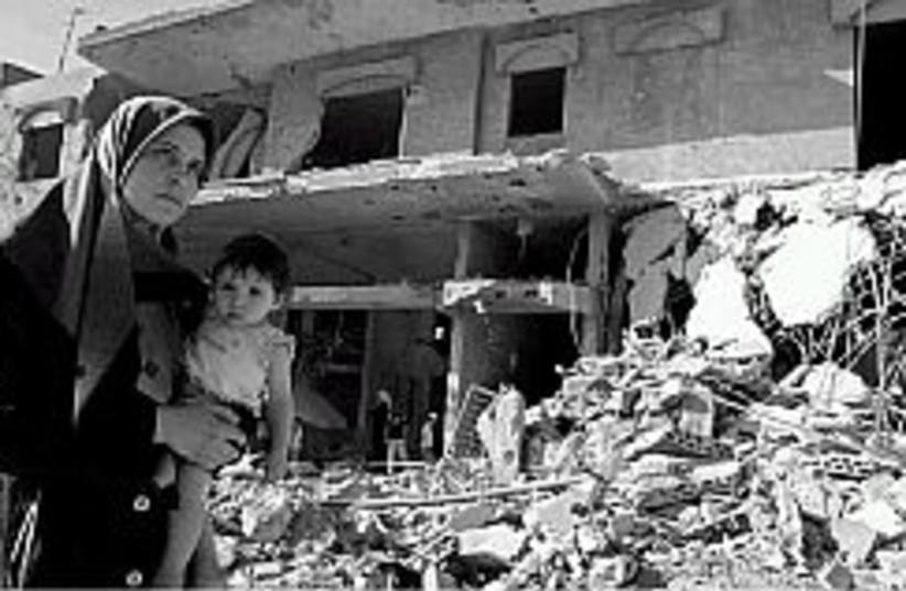 lebanon damage 298 88 (photo credit: AP)