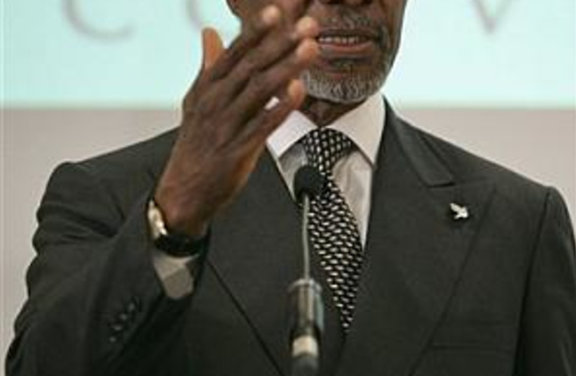Annan gestures 298.88 (photo credit: AP)