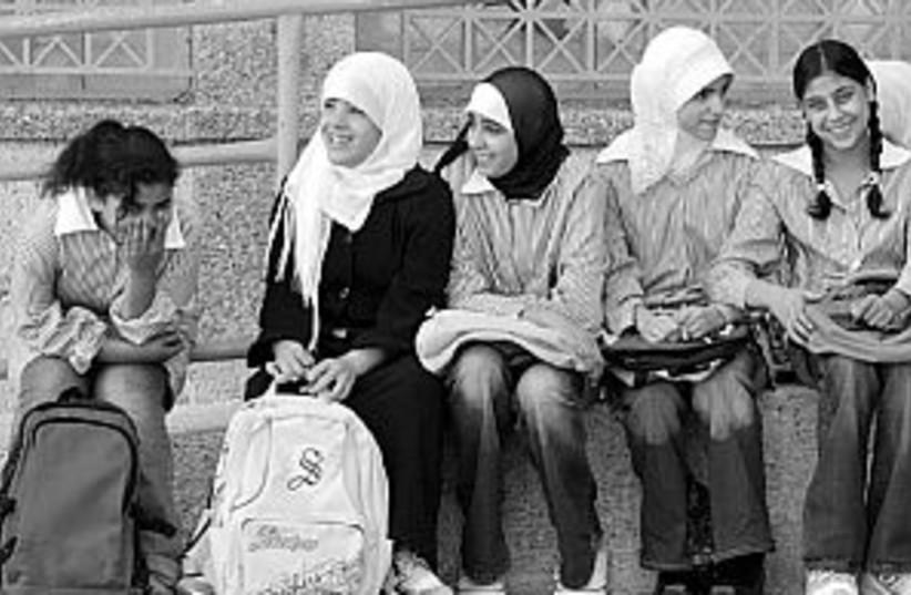 Palestinian girls 298 (photo credit: AP)