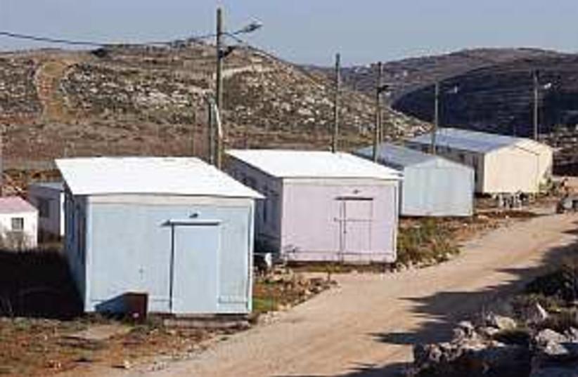 ginot arieh outpost (photo credit: Ariel Jerozolimski)