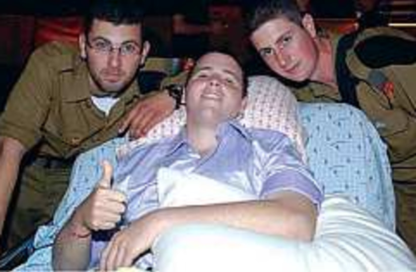 wounded soldier 298.88 (photo credit: Ofer Meir)