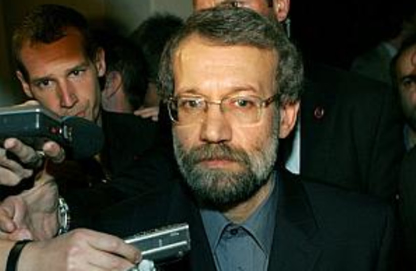 Ali Larijani 298.88 (photo credit: AP)