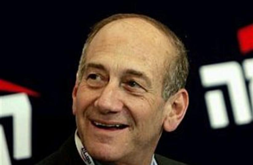 olmert smiles 298.88 (photo credit: AP)