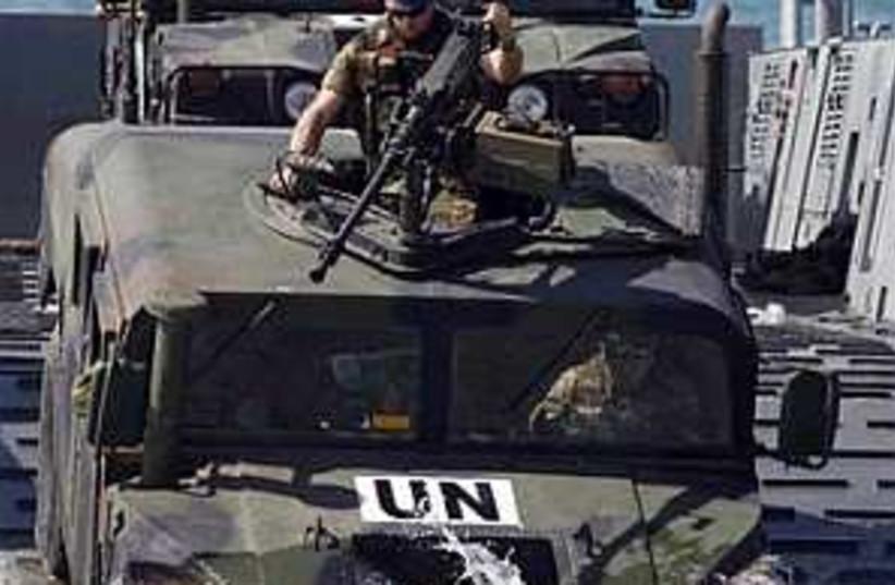 spanish peacekeepers (photo credit: AP [file])