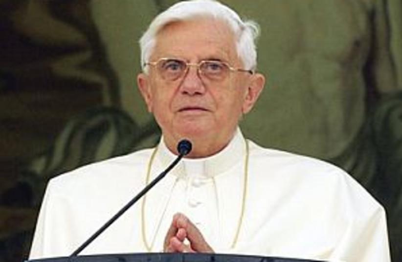 pope serious 298.88 ap (photo credit: AP)