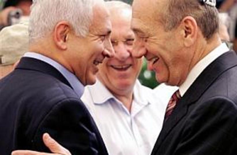 Olmert Bibi 298 ap (photo credit: )