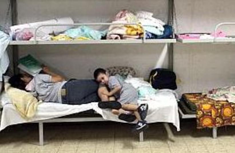 bomb shelter 298 AJ (photo credit: Ariel Jerozolimski [file])