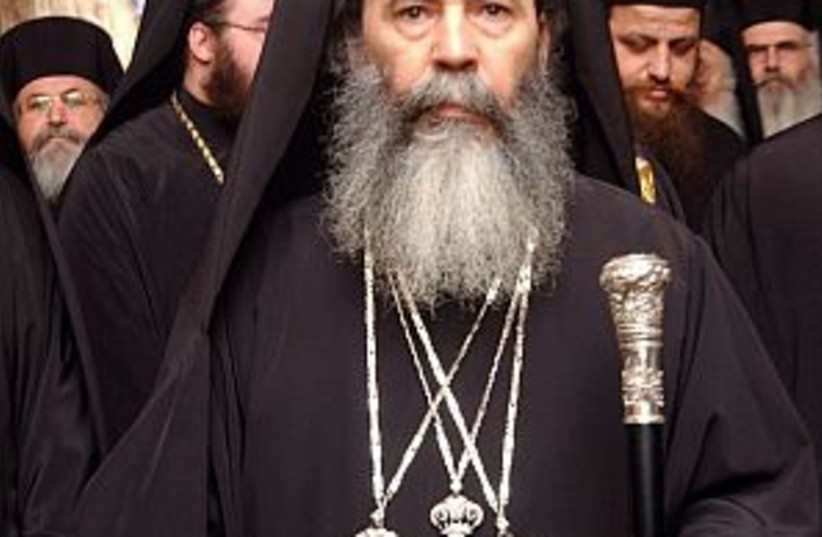 patriarch theophilos aj (photo credit: Ariel Jerozolimski)