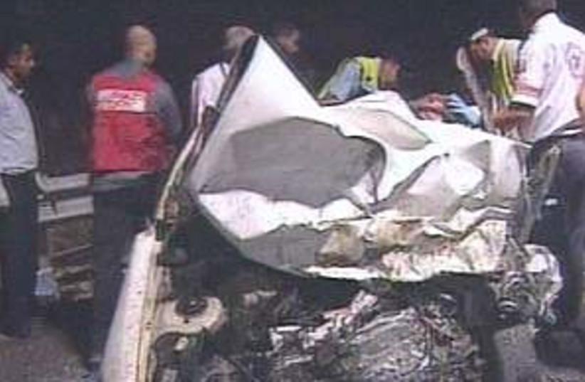car crash 298.88 (photo credit: Channel  2)