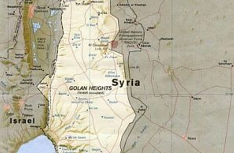 golan heights map 298 (photo credit: Courtesy)