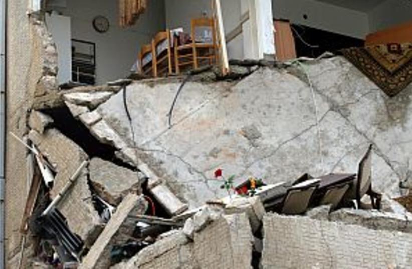 haifa katyusha damage (photo credit: Ariel Jerozolimski)