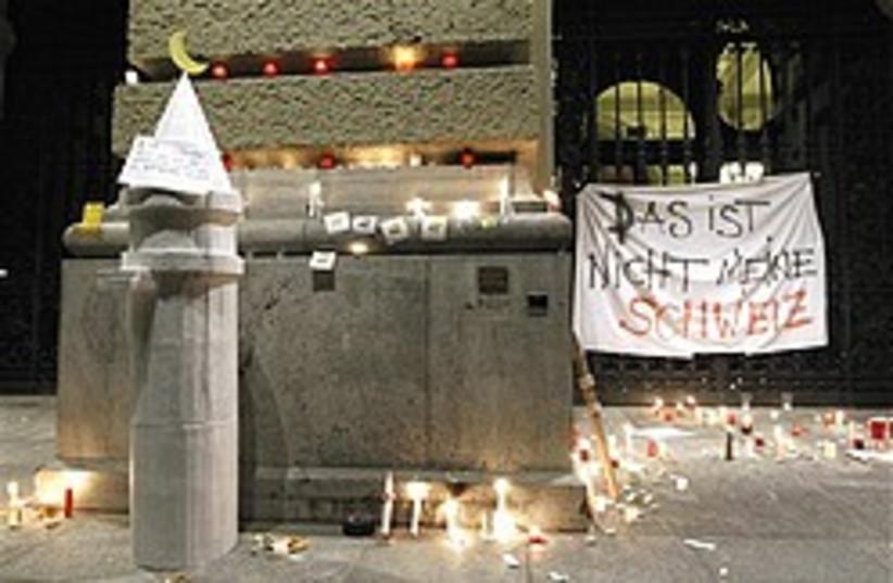 swiss minaret ban protest 248 88 ap (photo credit: AP)