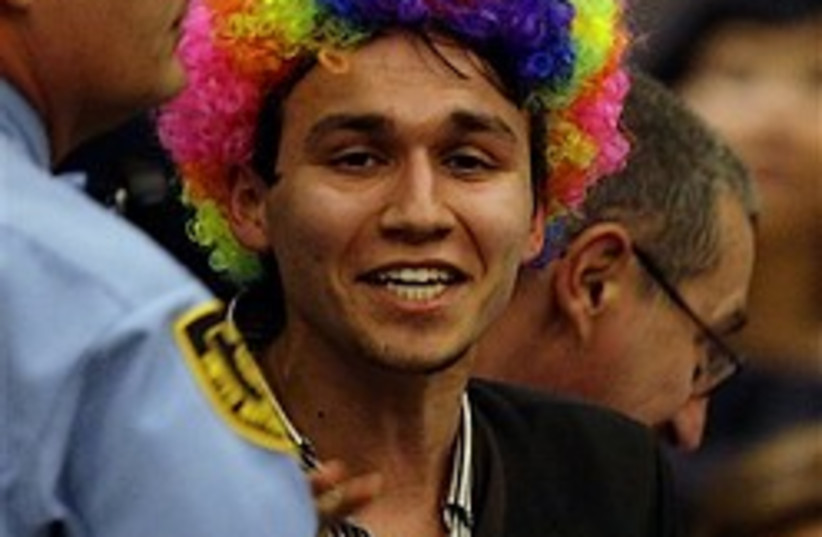 clown heckler 248.88 (photo credit: AP)
