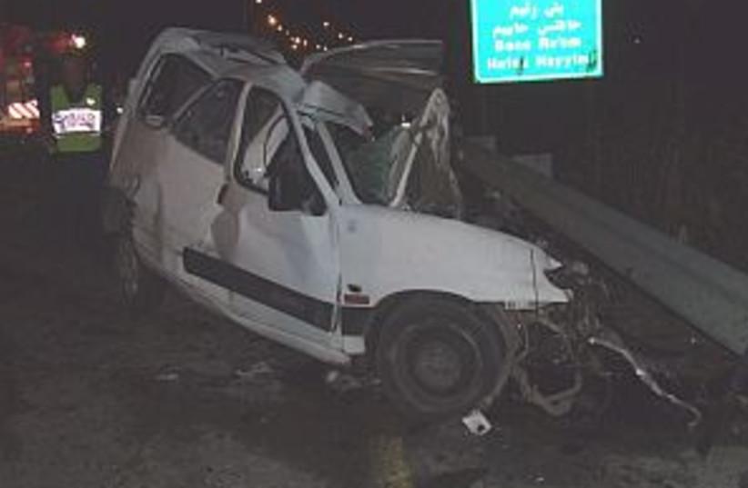 car crash 298.88 (photo credit: ZAKA)