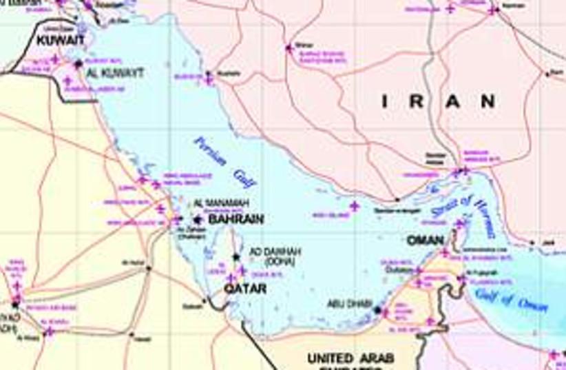 persian gulf map 298.88 (photo credit: Courtesy)