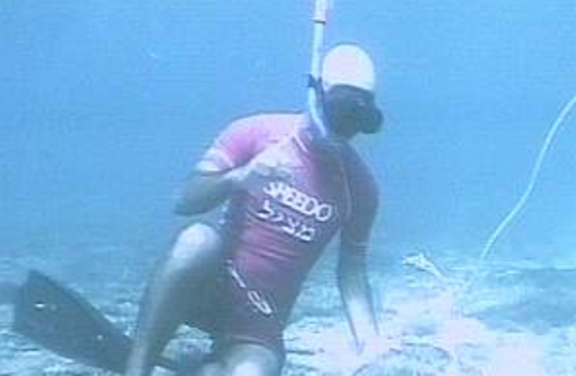 diver anchors 298.88 (photo credit: Channel 2)
