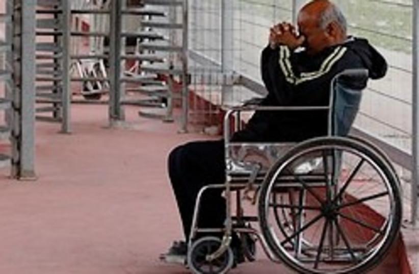 Gazan in wheel chair 248.88 (photo credit: )