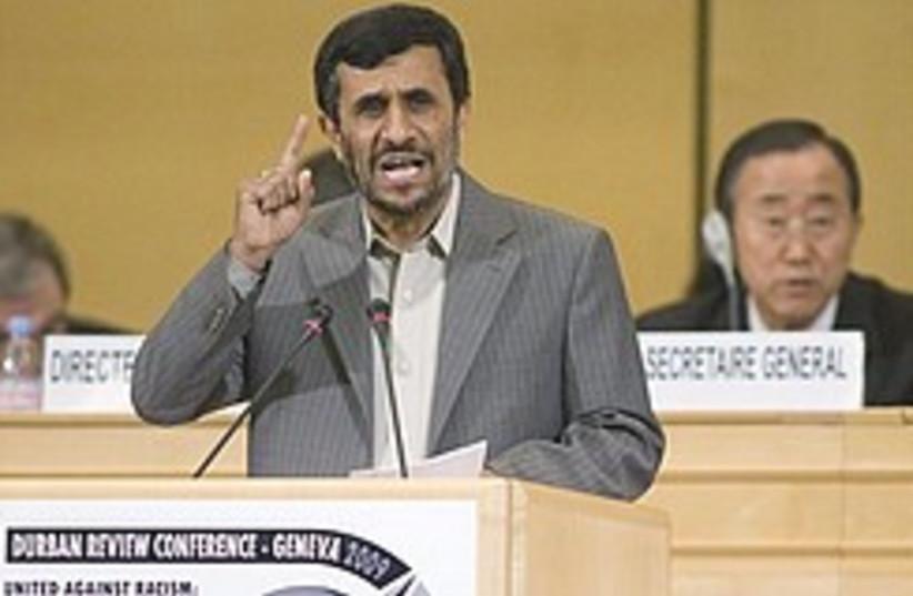 Ahmadinejad UN racism conference 248.88 (photo credit: AP)