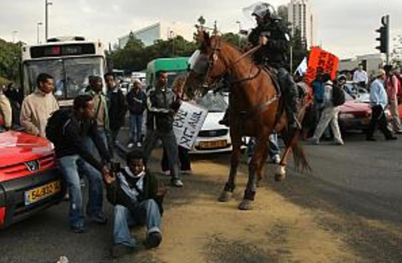 ethiopians protest 298 a (photo credit: Ariel Jerozolimski)