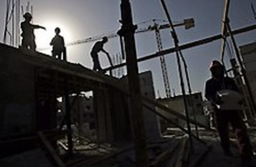 West Bank construction work [illustrative] (photo credit: AP)